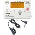 KORG TM-50 PW+KC KTM1200 チューナー/メトロノーム+コンタクトマイクセット/メール便発送・代金引換不可