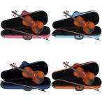 Carlo giordano VS-1C バイオリンセット [サイズ:4/4 3/4 1/2 1/4 1/8 1/10 1/16][ケース:ピンク 青 水色 オレンジ]/送料無料