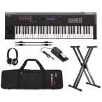 YAMAHA MX61 BK+ソフトケース+純正ヘッドホン+スタンド等6点セット 良い音を気軽に持ち運ぶシンセサイザー/送料無料