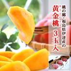残暑 見舞い フルーツ 黄金桃 3玉 福島県伊達産 モモ 化粧箱入り | ギフト くだもの 黄金桃 おうごんとう 黄桃 もも 贈り物