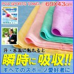 セームタオル スイムタオル スポーツタオルマルチユース 吸水タオル 69×43cm ネコポス送料無料 日本製