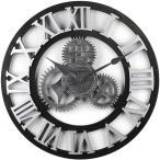 歯車 壁掛け時計 ローマ数字 アンティーク 壁掛け 雑貨 時計 レトロ 北欧 デザイナーズクロック ウォールクロック 欧風 アナログ ウッド 木 アメリカンクロック
