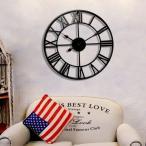 大きなアイアンフレーム ブラックorブロンズ アンティーク 雑貨  壁掛け時計  アンティークデザイン アメリカンクロック ウォールクロック