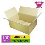 送料無料 ダンボール 段ボール 100サイズ 40枚セット ダンボール箱 宅配 日本製 無地 薄型 B段 あすつく対応