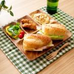 木製食器 木製プレート アカシア 食器 ランチプレート 北欧 カフェ おしゃれ かわいい ナチュラル キッチン 雑貨 平皿 角皿 フラットスクエアトレー4仕切り付