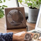 扇風機 DCモータ おしゃれ 卓上扇風機 小型扇風機 USB 乾電池式 コンパクト スリム ミニ デスクファン スタンドファン シンプル サーキュレーター 送風機 木目