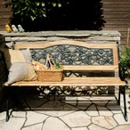 ベンチ ガーデンベンチ 屋外用 木製ガーデンベンチ アイアン おしゃれ アンティーク ベランダ 庭 パークベンチ ウッドベンチ 2人掛け ガーデンファニチャー