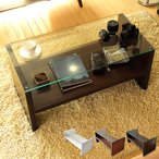 ローテーブル リビングテーブル おしゃれ 北欧 ガラス 木製 長方形 センターテーブル ガラステーブル 白 ホワイト ブラウン 収納 モダン シンプル