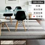 シャギーラグ - ラグ ラグマット 長方形 おしゃれ 北欧 ダイニングラグ 撥水 拭ける 220×250cm カーペット 日本製 抗菌 シンプル モダン 絨毯 ホットカーペット対応