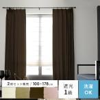 カーテン 遮光カーテン 遮光 遮音 シンプル モダン 洗える 遮光1級 2枚組 100×178cm 2枚セット販売
