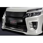 【シルクブレイズ】ヴォクシー ZRR80W ZS フロントバンパーカバー メーカー単色塗装済品 ブラック (202)