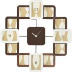 茶谷産業 クロックフレーム ツートン 253-516BRW 同梱不可おしゃれ デザイン オリジナル