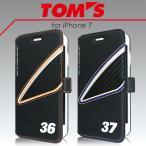 TOM'S トムス 公式ライセンス品 iPhone7 iPhone6s iPhone6 専用 本革 レザー 手帳型ケース アイフォン7 アイフォン6s アイフォン6