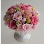 プリザーブドフラワーアレンジメント、ピンクの濃淡のバラがいっぱい