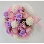 ピンクのお花、ドライフラワーの花束、発表会に