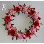赤いバラ、プリザーブドフラワーリース