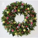 クリスマスリース ヒイラギの葉と赤い実 葉はプリザーブド加工 サイズ20cm ギフト プレゼント 誕生日 開店祝 引越し祝