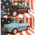 KiNSMART製 プルバックミニカー フィアット500 Fiat blacklblue
