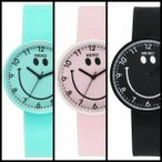 Yahoo!aizsale■【新商品】 アウトレット 送料無料 翌日発送 腕時計 スマイル シリコン 可愛い 黒 ピンク 水色 ブルー