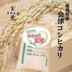 コシヒカリ お米 30kg キラッと玄米 (会津産) 令和二年産 調製済玄米 送料無料 通常発送