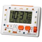 ショッピング目覚まし時計 リズム時計 電波デジタル 目覚まし時計/ミッフィー R126 温湿度計 環境目安表示付 白 8RZ126MM03
