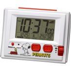 ショッピング目覚まし時計 リズム時計/スヌーピー R126 電波デジタル 目覚まし時計  8RZ126RH03 (取寄せ)
