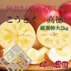 山形りんご 阿部さんの蜜入り特大こうとく 約2kg(51-B)