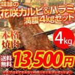 花咲焼肉(焼き肉) 爆盛4キロ箱 15〜20人前 送料無料 お花見