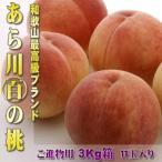 ご予約 送料無料 和歌山県産 最高グレードあら川「〜百の桃」3Kg11玉