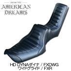 ajito American Dreams アメリカンドリームス HDハーレー DYNA ダイナ FXDWG ワイドグライド Wカスタムシート ハーレーパターン ハイバック40cm AD-DYNA-008