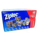 (ジップロック ) Ziploc コンテナー バラエティパック 24個セット 食品保存容器/マルチパック コンテナ タッパー 耐熱 耐冷 冷凍 プラスチック容器
