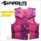 HYPER LITE ハイパーライト ライフジャケット LIFE JACKET (子供用 ライフジャケット) 女の子用 高性能ライフジャケット 素肌にも着心地の良いウエット素材