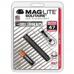 【MAGLITE】マグライト  ソリテール LED フラッシュライト ブラック  明るさ47ルーメン 1AAA  単4アルカリ電池×1本使用 MAGLITE Solitaire LED 1-CELL AAA FLAS