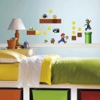 【Roommates】【スーパーマリオ】ウォールステッカー デカール/rmk2351scs/ウォールシール/壁紙/壁用/ルームメイツ/はがせる/マリオ