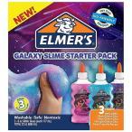 スライム作りが簡単に♪  Elmer's(エルマーズ)  ギャラクシー スライム スターターキット グリッターグルー 3本177mL(6オンス)スライムレシピ付き エルマーズ