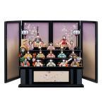 【木目込み人形】一秀十五人飾り 三段飾り さくらさくら【C-102】ひな人形 収納式【1703KRM】