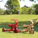 【B品】ヤトミ 箱破れあり 木製三輪車 木製三輪車 4色【プレゼント】