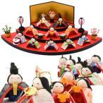 ひな人形 雛人形 コンパクト ちりめん お雛様  扇面三段わらべ雛10人揃い  送料無料