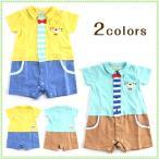 赤ちゃん ベビー服 シシュノン ロンパース 半袖 『ネコポケットシャツ風ロンパース』