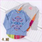 キッズ 子供服 Tシャツ 長袖 『ストライプPWラグランTシャツ』 メール便送料無料 子ども服