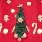 ベビー服 新生児 赤ちゃん 着ぐるみ コスチューム ツリー 写真撮影用 子供仮装 クリスマスツリー サンタ コスプレ 誕生記念 寝相アート 男の子 女の子 3-12ヶ月