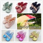 送料無料 ショートブーツ 梅雨 雨の日 おしゃれ セール 女の子 レインシューズ 長靴 レインブーツ キッズ リボン ラバーシューズ ながぐつ 子供の画像
