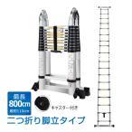 脚立 伸縮 伸縮梯子 はしご兼用脚立 8m 折り畳み キャスター アルミ製 作業台 洗車台 雪下ろし 掃除 高所作業 角度調整 安全 業者 R7 ny006