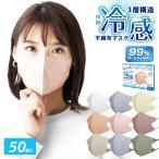 マスク 冷感 ひんやり 60枚+6枚 使い捨て 不織布 4層 カラー 99%カット 大人 防塵 花粉 風邪 個別包装 男女兼用 夏 ny417-60 在庫処分