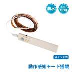 LED テープ ライト 人感 動体 モーションセンサー 1m 30連 電池式 インテリア 防水 フロアライト 足元灯 室内 店舗 イルミネーション sl047