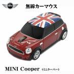 ショッピングmini ミニクーパー ユニオンジャック UK ワイヤレス オプティカル カーマウス 1750dpi  レッド