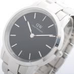 腕時計 ダニエルウェリントン 腕時計 ICONIC LINK 40 シルバー DW00100342 ブラック (3〜5日以内に出荷可能)