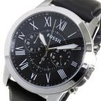 腕時計 フォッシル FOSSIL グラント クオーツ メンズ クロノ 腕時計 FS4812 ブラック(ご注文から3〜5日以内に出荷可能商品)