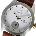 腕時計 トリワ TRIWA クオーツ レディース 腕時計 AKST102-SS010213 ホワイト / ブラウン(ご注文から3〜5日以内に出荷可能商品)