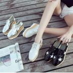 ハイヒール 革靴 サンダル レディース 運動靴 ランニング靴 五角星 通勤 通学 軽量 レクリエーション厚底 美脚